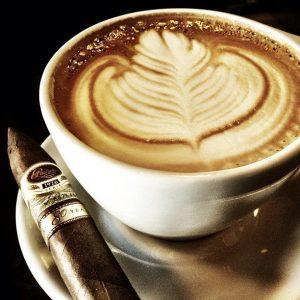 thưởng thức xì gà với cafe